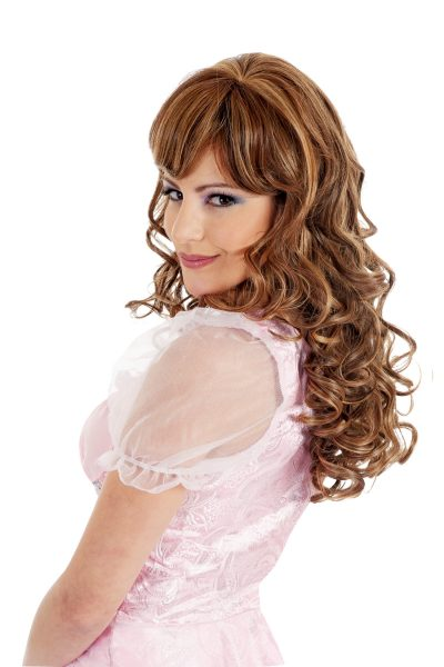 Risque Escape long curly hair wig