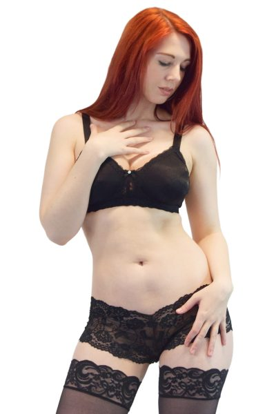 TRANSFORM See thru black pocketed bra