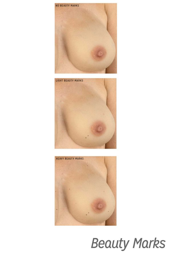Gold Seal CustomSkin Marilyn beauty mark breast forms