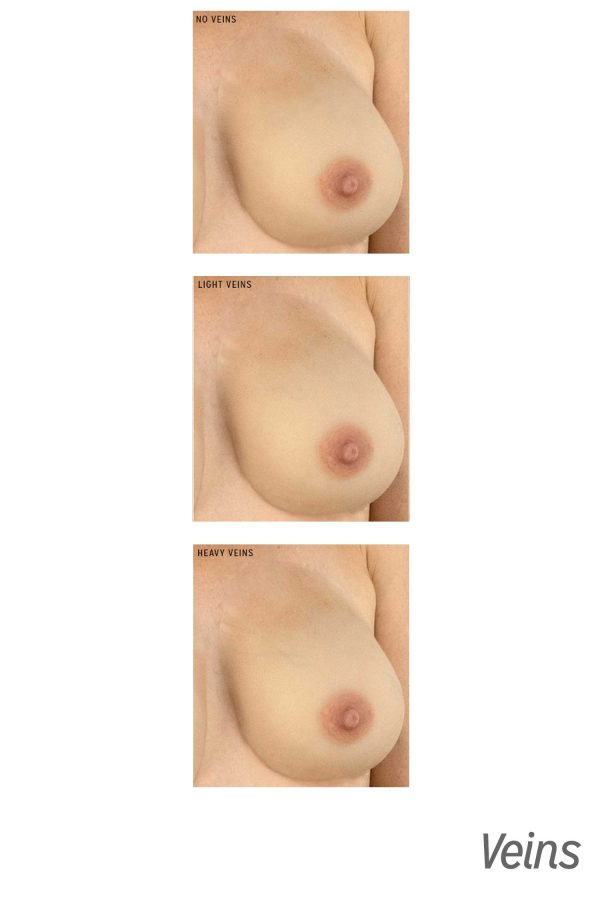 Gold Seal CustomSkin Marilyn vein breast forms