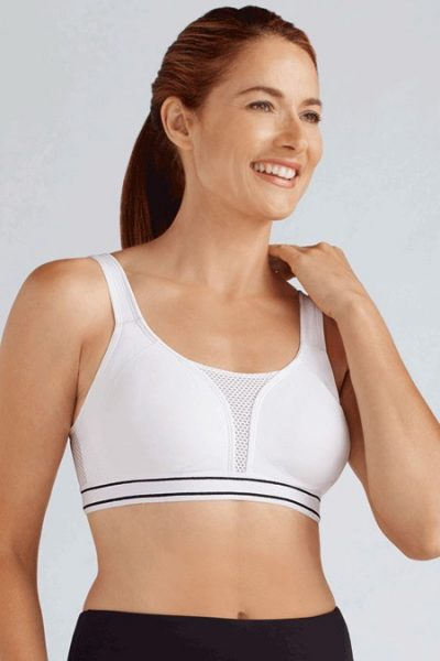 Amoena performance pocket sports bra for breast forms
