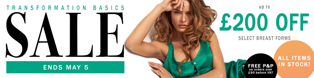 £200 off select breast forms realistic breast forms at The Breast Form Store